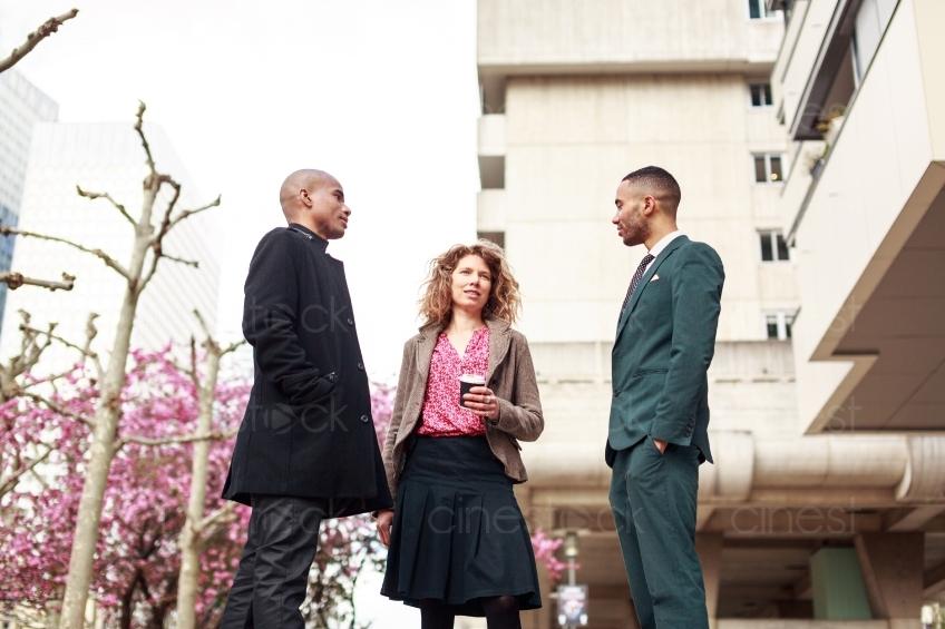 Szene Mit Zwei Männern Und Einer Frau